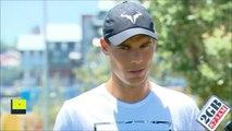 Rafael Nadal and Kei Nishikori Interview ahead of the Fast4 Tennis in Sydney. 9-01-2017