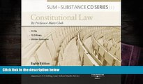 BEST PDF  Cheh s Sum and Substance Audio Constitutional Law, 8th (CD) BOOK ONLINE