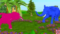 Colors Dinosaurs Vs Elephant Finger Family | Nursery Rhymes and Songs for Children | Kids Rhymes