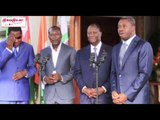 Intervention des PR Ouattara et Faure suite à la Réunion avec les PR Talon et Boni Yayi