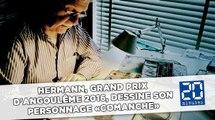 Hermann, Grand prix d'Angoulême 2016, dessine son personnage «Comanche»