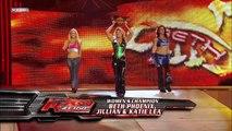 Beth Phoenix, Jillian Hall and Katie Lea vs. Mickie James, Candice Michelle and Melina