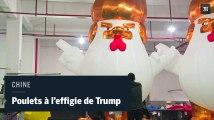 En Chine, des sculptures gonflables de Trump pour l'année du Coq