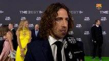 Carles Puyol i Dani Alves a la Gala The Best FIFA Awards