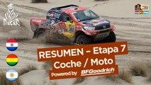 Resumen de la Etapa 7 - Coche/Moto - (La Paz / Uyuni) - Dakar 2017