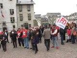 Aix-les-Bains / 1er mai : une cinquantaine de militants Force Ouvriere venue exprimer son opposition a l'austerite...