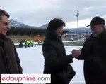 Test de la clé bernadette Laclais neige stade rugby saint savin chambéry