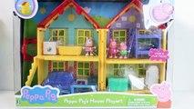 Peppa Pigs House Playset La Casa de Peppa Juguetes de Peppa Pig Toys Videos