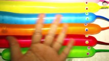 5 Eyes Rainbow Face Color Wet Balloons Learn Colours Funny Faces Color Wet Balloon Song For Kids