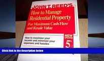 Download  How to Manage Residential Property for Maximum Cash Flow and Resale Value  PDF READ Ebook