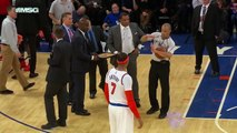 Carmelo Anthony encore expulsé d'un match des Knicks...