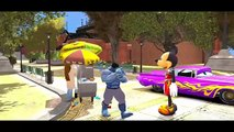 Blue Hulk & Mickey Mouse Disney Pixar Cars Ramone and Dinoco Nursery Rhymes Songs