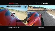 Comparaison entre réalité et jeu vidéo de course de voitures