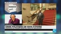 Le président ivoirien Alassane Ouattara limoge ses chefs de l'armée, de la gendarmerie et de la police.