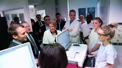 Emmanuel Macron en visite à Nevers