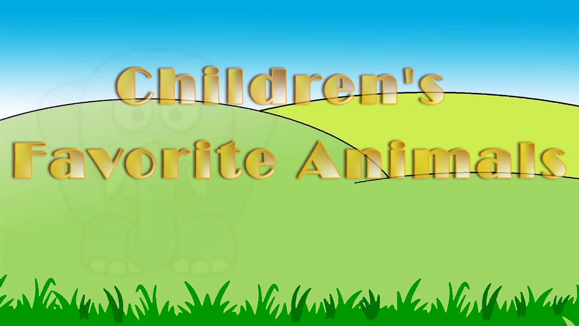 Children's Favorite Animals - Learning English Animal Names   Kids Learning Videos