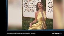 Emily Ratajkowski ultra sexy s'éclate et dévoile sa culotte aux Golden Globes 2017 (Vidéo)