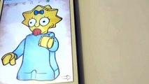 Как нарисовать для детей. Рисуем Maggie Simpson. How to draw for children How to Draw Maggie Simpson