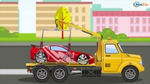 The Yellow Racing Car vs Fast Taxi Race | Emergency Vehicles | Cars & Trucks cartoons for kids