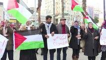 تظاهرة ضد قرار نقل السفارة الأميركية من تل أبيب الى القدس
