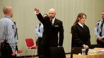 Ναζιστικός χαιρετισμός του μακελάρη του Όσλο σε δικαστήριο της Νορβηγίας