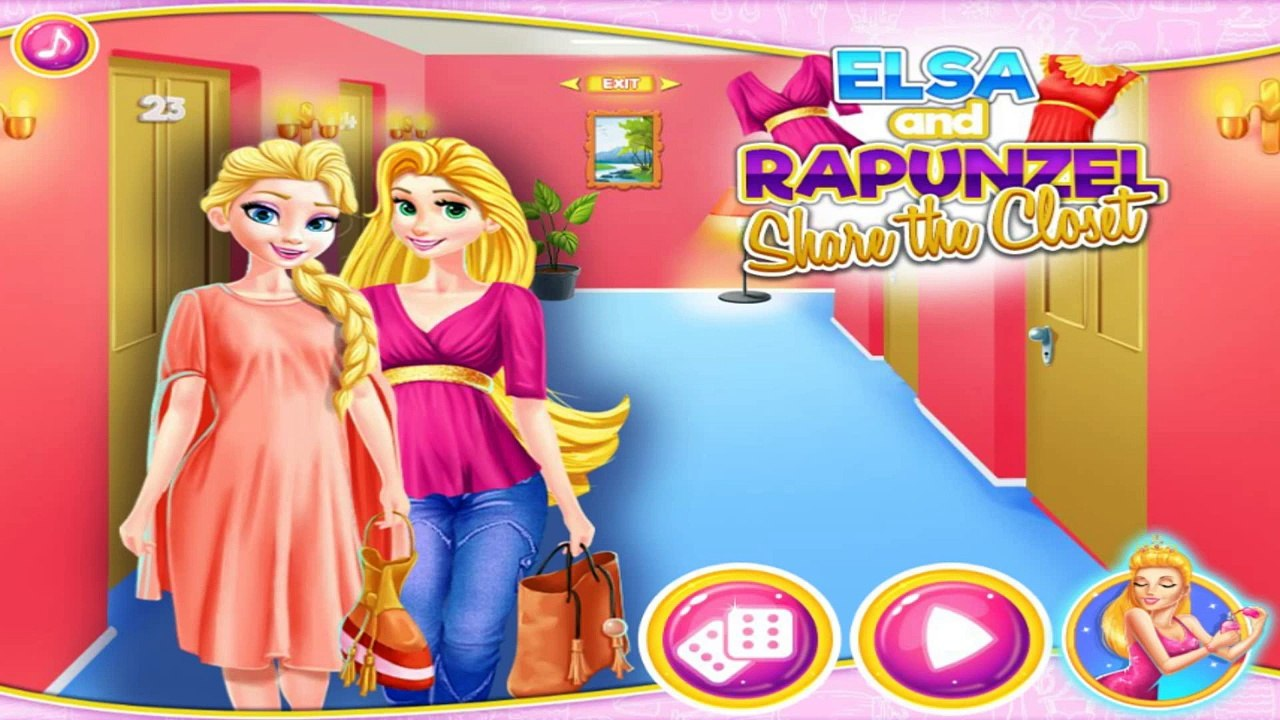 Elsa And Rapunzel Share The Closet: Disney Princess Games - Best Game for  Little Girls
