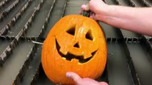 Carving a Pumpkin in Under 30 Seconds With A Waterjet - Pumpkin Carving Machine - Jack O Lantern
