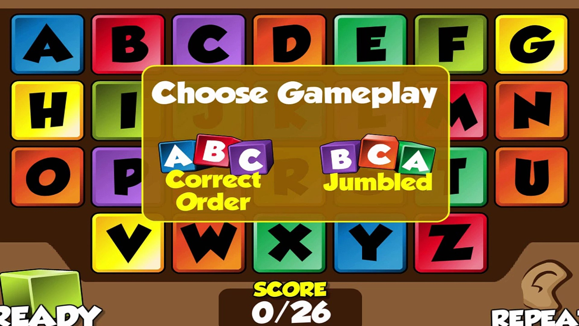 Teach Kids to learn the Letters of the Alphabet - ABC learning Game for Kids Education