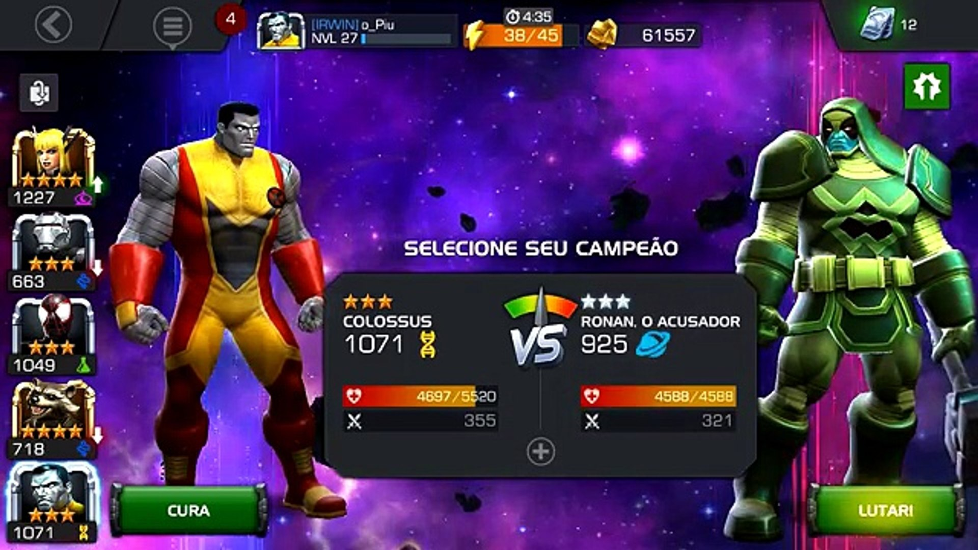 ROCKET RACCOON GUARDIÕES DA GALAXIA 4 ESTRELAS! - Marvel Torneio de  Campeões - Ep 23