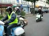 Départ RAID MOULES-FRITES Beauvais- Le-Tréport à scooter