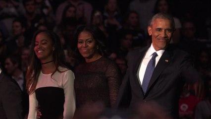 """USA : Obama conclut son dernier discours par """"yes we did"""""""