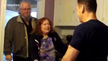 Mum freaks out when seeing her son after he lost 200 lbs in 11 months