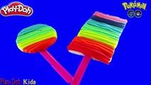 ICE CREAM RAINBOW COLORFUL!! Create Ice Cream Rainbow Colorful Play DOh For Pokemon GO Pikachu Funny