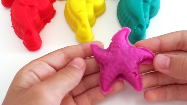 Play Doh Seahorses with Sea Animals molds Cookie Cutters Fun and Creative for Kids
