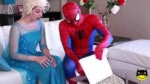 Frozen Elsa LOSES HER HEAD Spiderman vs Joker Maleficent Spidergirl Zombie is a cake Superheroes IRL
