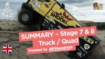 Stages 7 & 8 Summary - Quad/Truck - (Uyuni / Salta) - Dakar 2017