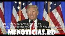 Donald Trump shuts down CNN reporter/donald trump dice cnn da noticias falsas y habla del muro de mexico,en su conferencia de prensa
