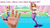 Barbie Pool Party with Barbie Doll and Ken Doll Finger