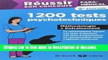 Télécharger Epub Réussir son concours paramédical - 1200 tests psychotechniques - Méthodologie +