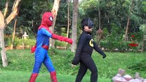 Spiderman Vs Hulk Vs Batman Fight In Real Life | Superheroes Epic Rap Battles Video For Children