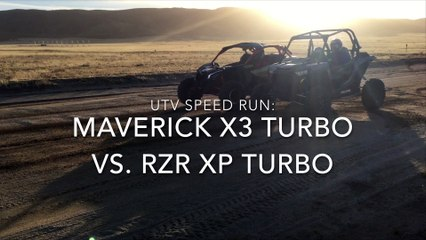 UTV Speed Run: 2017 Can-Am Maverick X3 X ds vs. 2017 Polaris RZR XP Turbo