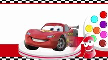 Learn Colors With Lightning McQueen Monster Truck LEGO Disney Cars Cartoon - Educational Kids Games