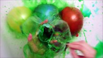30 COLOUR WET BALLOONS POPPING SHOW COMPILATION SLOW MOTION WATER BALLOON POP BUUMM
