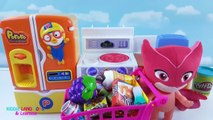Pororo Refrigerator and Ice Dispenser with PJ Masks Babies Fun Cooking Pretend Play Video