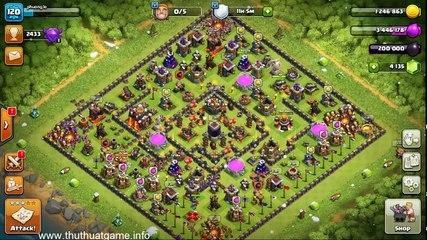 Mẫu base bảo vệ DE cho Hall 10 [Clash of Clans]