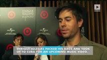 Enrique Iglesias flies to Cuba for music video
