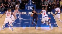 Anthony Davis THROWN into Crowd by Kyle O'Quinn Flagrant Foul, Carmelo Anthony EJECTED