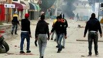 مواجهات بين الأمن ومحتجين في مدينة تونسية حدودية مع ليبيا