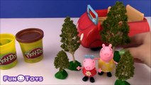 Play Doh Peppa Pig Muddy Puddles RED CAR with Mummy Pig FUN video for BABY PRESCHOOLER TODDLER