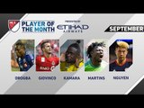 Etihad Airways Player of the Month Nominees: September